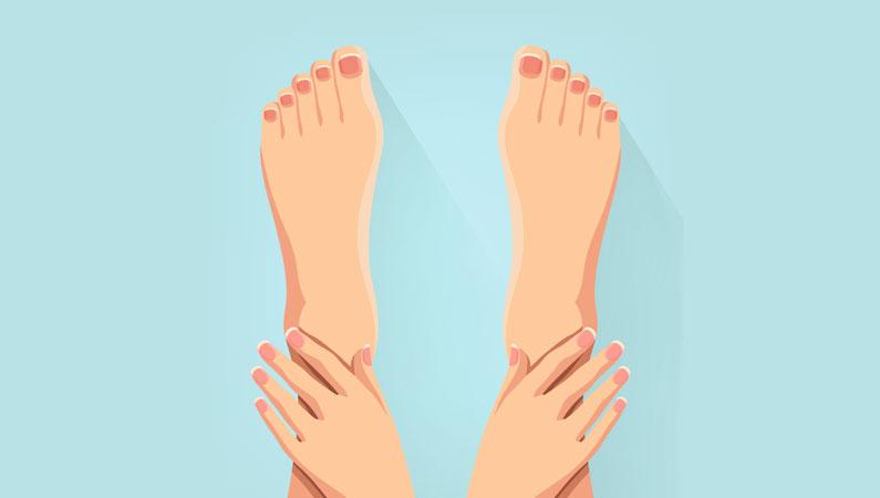Den hårde hud er en af grundene til ømme fødder