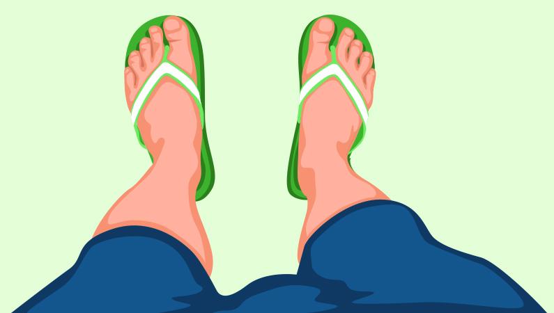 Husk at lufte fødderne